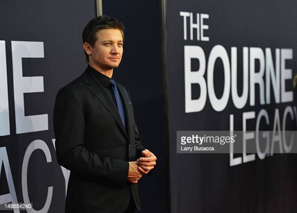 Jeremy Renner attends 'The Bourne Legacy' New York Premiere at Ziegfeld Theater on July 30 2012 in New York City