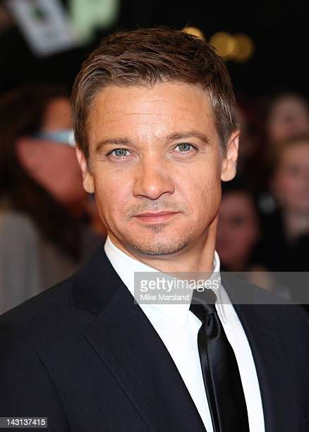Jeremy Renner attends the European premiere of Marvel Avengers Assemble at Vue West End on April 19 2012 in London England