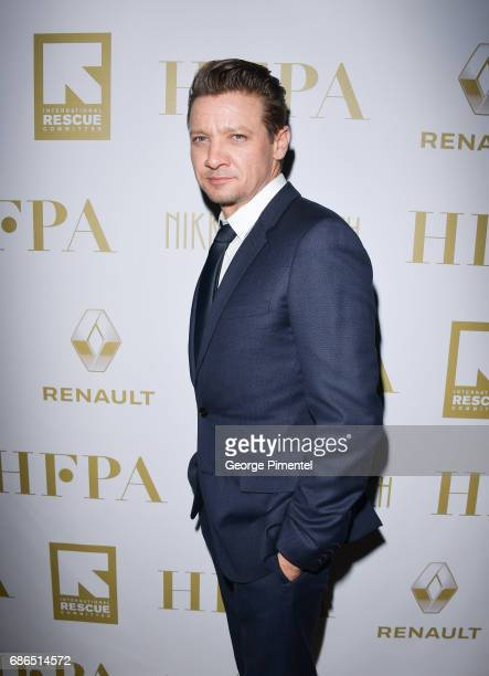 Jeremy Renner attends the Hollywood Foreign Press Association's 2017 Cannes Film Festival Event in honour of the International Rescue Committee...