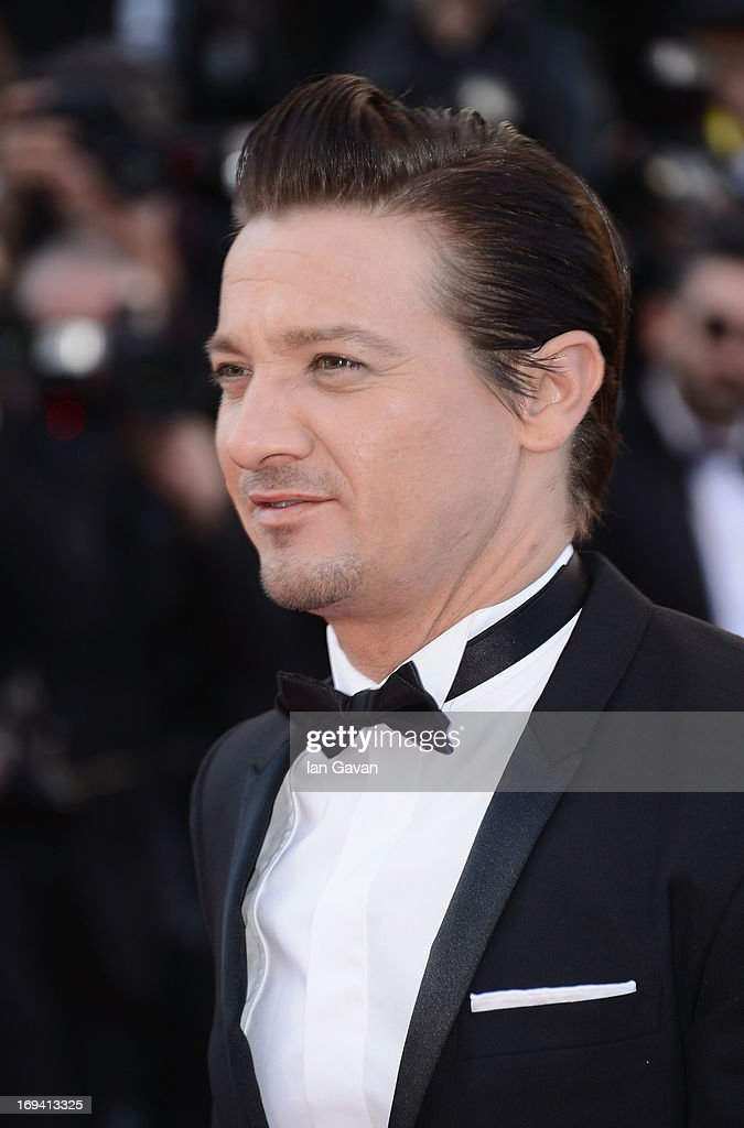 <a gi-track='captionPersonalityLinkClicked' href=/galleries/search?phrase=Jeremy+Renner&family=editorial&specificpeople=708701 ng-click='$event.stopPropagation()'>Jeremy Renner</a> attends 'The Immigrant' Premiere during the 66th Annual Cannes Film Festival at Grand Theatre Lumiere on May 24, 2013 in Cannes, France.