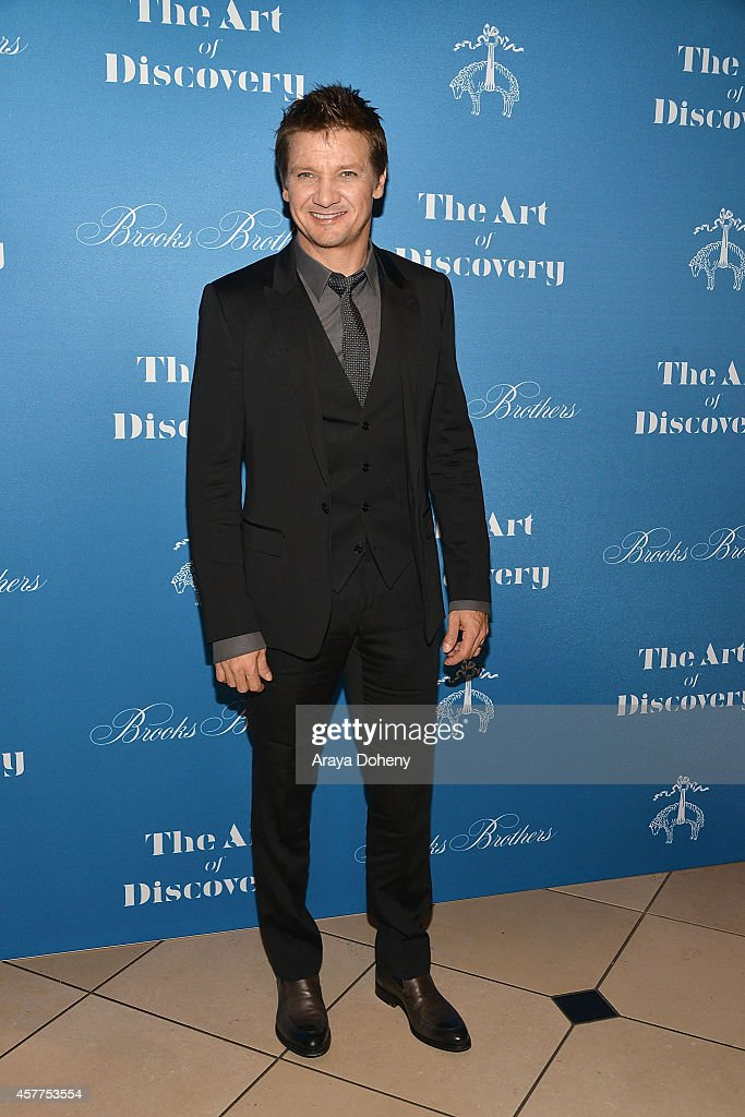<a gi-track='captionPersonalityLinkClicked' href=/galleries/search?phrase=Jeremy+Renner&family=editorial&specificpeople=708701 ng-click='$event.stopPropagation()'>Jeremy Renner</a> attends the L.A. launch for Jeff Vespa's new book 'The Art of Discovery' at Brooks Brothers Rodeo on October 23, 2014 in Beverly Hills, California.