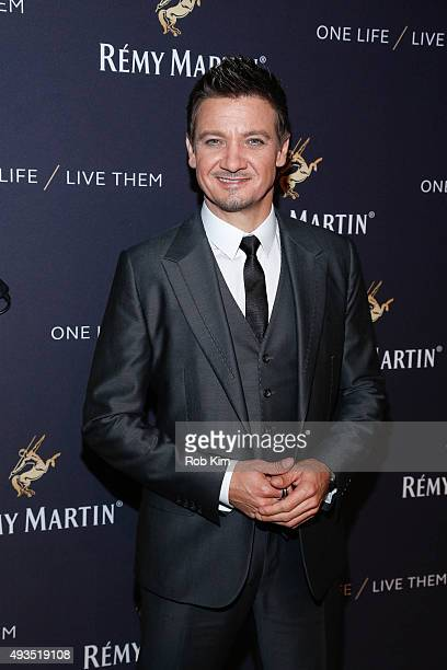 Jeremy Renner attends the One Life/Live Them Campaign Launch at ArtBeam on October 20 2015 in New York City