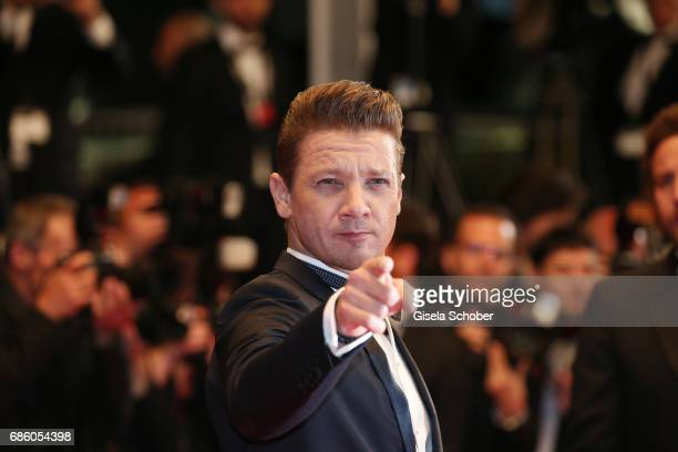 Jeremy Renner attends the 'The Square' screening during the 70th annual Cannes Film Festival at Palais des Festivals on May 20 2017 in Cannes France