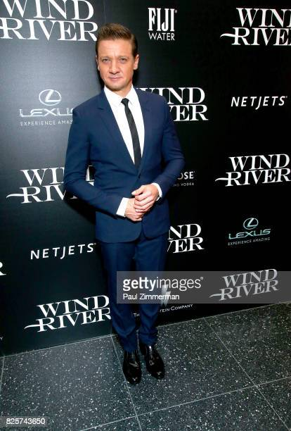 Jeremy Renner attends The Weinstein Company With FIJI Grey Goose Lexus And NetJets Host A Screening Of 'Wind River' Arrivals at The Museum of Modern...
