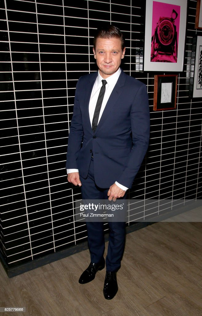Jeremy Renner attends The Weinstein Company With FIJI, Grey Goose, Lexus And NetJets Host A Screening Of 'Wind River' - After Party at The Skylark on August 2, 2017 in New York City.