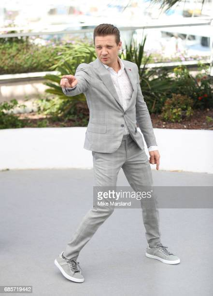 Jeremy Renner attends the 'Wind River' photocall during the 70th annual Cannes Film Festival at Palais des Festivals on May 20 2017 in Cannes France