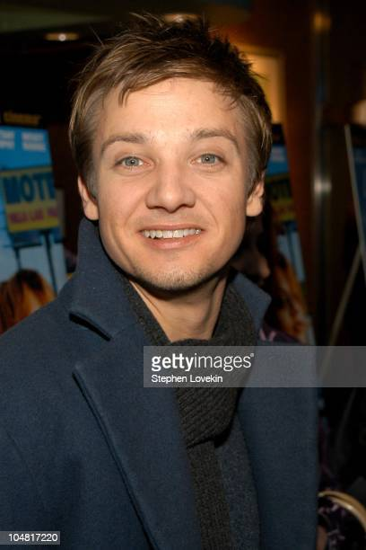 Jeremy Renner during New York Premiere of the film 'Spun' at Clearview Chelsea West Cinema in New York New York United States