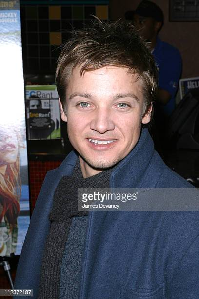 Jeremy Renner during 'Spun' Premiere New York at Clearview Chelsea West in New York City New York United States