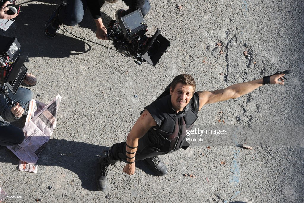 <a gi-track='captionPersonalityLinkClicked' href=/galleries/search?phrase=Jeremy+Renner&family=editorial&specificpeople=708701 ng-click='$event.stopPropagation()'>Jeremy Renner</a> is seen filming on location for 'Avengers: Age of Ultron' on March 24, 2014 in Aosta, Italy.