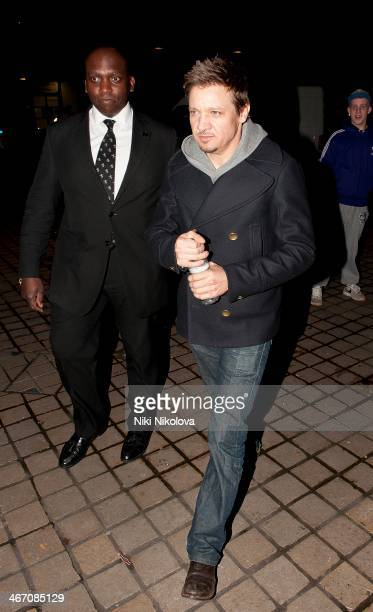 Jeremy Renner is seen leaving the Royal Festival Hall South Bank on February 5 2014 in London England