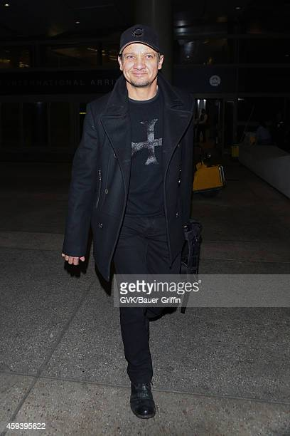 Jeremy Renner seen at LAX on November 21 2014 in Los Angeles California