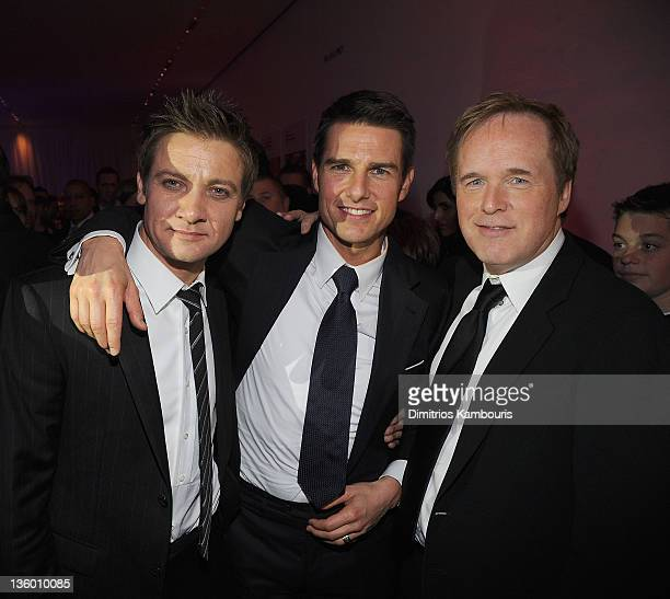 Jeremy Renner Tom Cruise and director Brad Bird attend the 'Mission Impossible Ghost Protocol' US premiere after party at the Museum of Modern Art on...