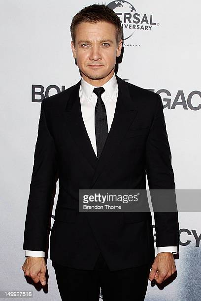 Jeremy Renner walks the red carpet at the Sydney Premiere of The Bourne Legacy at The State Theatre on August 7 2012 in Sydney Australia