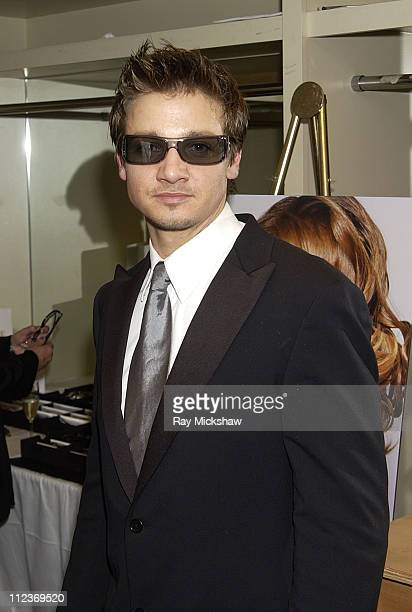 Jeremy Renner wearing Gucci 1446s sunglasses during Safilo at the Fourth Annual Hollywood Makeup Artists and Hairstylists Guild Awards at The Beverly...