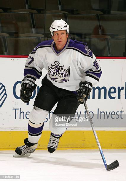 Jeremy Roenick of the Los Angeles Kings before the game between the Los Angeles Kings and the Colorado Avalanche at the Pepsi Center in Denver...