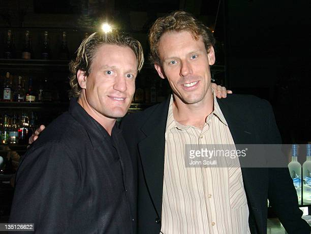 Jeremy Ronick and Sean Burke at the Motorola Late Night Lounge at the Toronto Film Festival