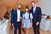 Jeremy Rosenberg Lin Gao and Brian Kelly attend Audubon New York Young Members Benefit at Marlborough Gallery on June 2 2016 in New York City