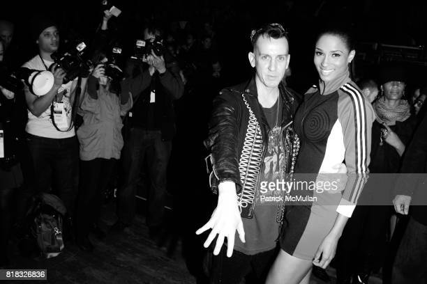 Jeremy Scott and Ciara attend ADIDAS Y3 Fall/Winter 2010 Collection at Park Avenue Armory on February 14 2010 in New York City