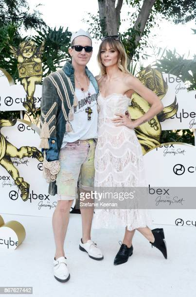 Jeremy Scott and Jaime King at the Cybex by Jeremy Scott Cherub Halloween Launch Celebration on October 28 2017 in Los Angeles California
