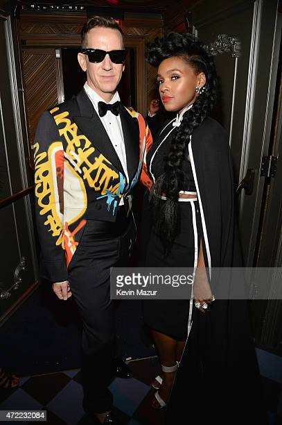Jeremy Scott and Janelle Monae attend Rihanna's private Met Gala after party at Up Down on May 4 2015 in New York City