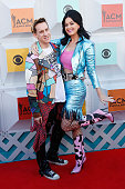 Jeremy Scott and Katy Perry attend the 51st Academy Of Country Music Awards at MGM Grand Garden Arena on April 3 2016 in Las Vegas Nevada
