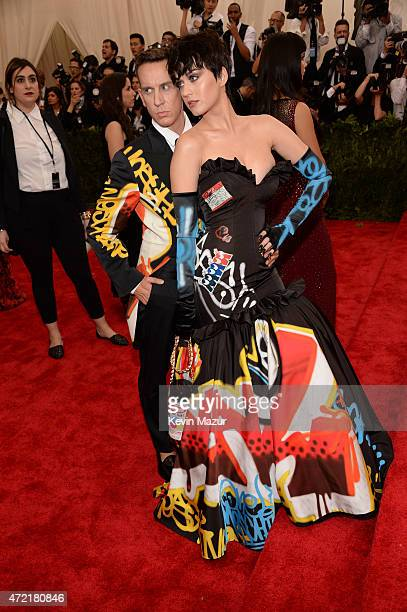 Jeremy Scott and Katy Perry attend the 'China Through The Looking Glass' Costume Institute Benefit Gala at Metropolitan Museum of Art on May 4 2015...