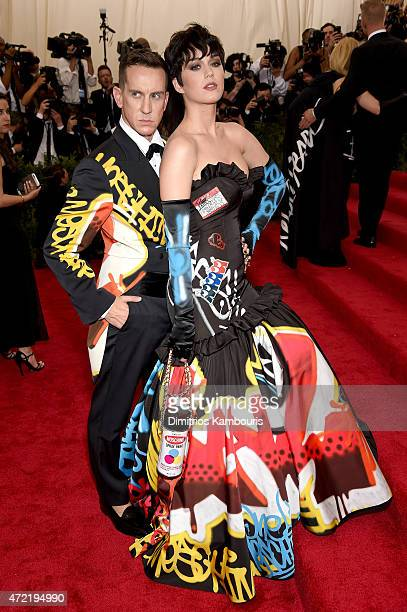 Jeremy Scott and Katy Perry attend the 'China Through The Looking Glass' Costume Institute Benefit Gala at the Metropolitan Museum of Art on May 4...