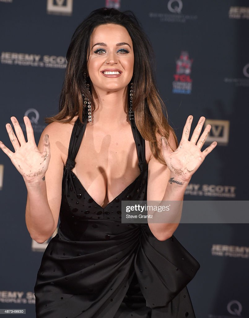 Jeremy Scott And Katy Perry Hand Print Ceremony At TCL Chinese IMAX Forecourt at TCL Chinese Theatre IMAX on September 8 2015 in Hollywood California