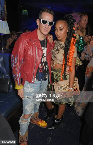 Jeremy Scott and LeighAnne Pinnock attend the iD x Jeremy Scott party presented by UGG at Cafe de Paris on September 14 2017 in London England
