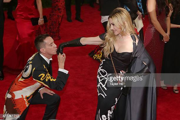 Jeremy Scott and Madonna attend 'China Through the Looking Glass' the 2015 Costume Institute Gala at Metropolitan Museum of Art on May 4 2015 in New...
