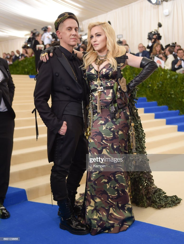 Jeremy Scott and Madonna attend the 'Rei Kawakubo/Comme des Garcons: Art Of The In-Between' Costume Institute Gala at Metropolitan Museum of Art on May 1, 2017 in New York City.