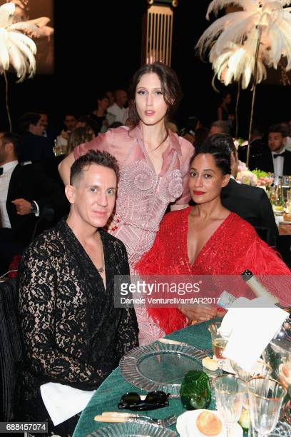 Jeremy Scott Anna Cleveland and guest attend the amfAR Gala Cannes 2017 at Hotel du CapEdenRoc on May 25 2017 in Cap d'Antibes France