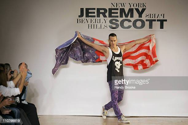 Jeremy Scott designer during Olympus Fashion Week Spring 2007 Jeremy Scott Runway at The Altman Building in New York City New York United States