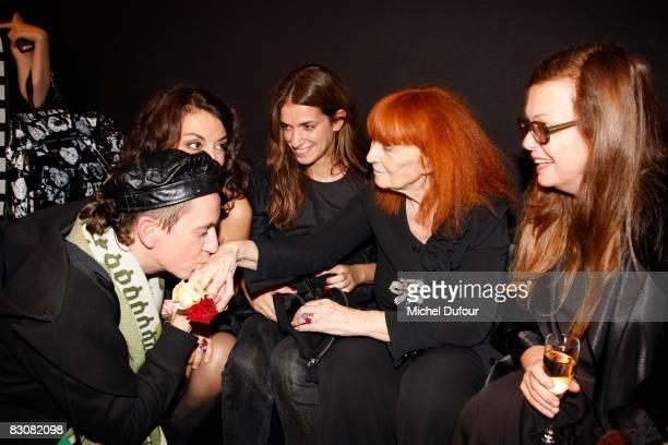 Jeremy Scott Nathalie Rykiel Joanna Preiss Sonia Rykiel and Martine Sitbon attend the Sonya Rikiel fashion show during Paris Fashion Week on October...