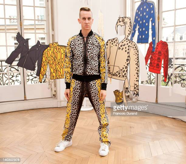 Jeremy Scott poses at the adidas showroom during adidas Originals and Jeremy Scott new Fall/Winter 2012 collection presentation as part of Paris...