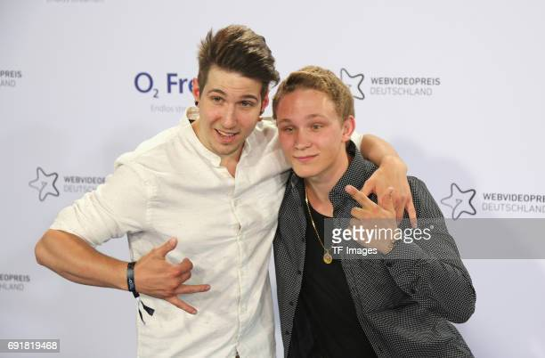 Jeremy Seubert and Christian Reinhard of TheChrisTezzShow attends the Webvideopreis Deutschland 2017 at ISS Dome on June 1 2017 in Duesseldorf Germany