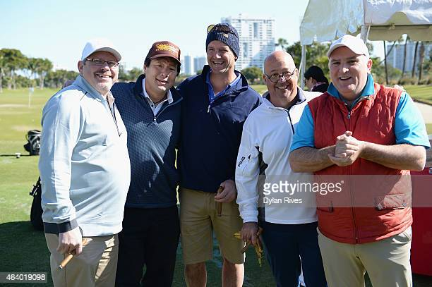 Jeremy Sewell Ming Tsai Andrew Zimmern and Jose Andres attend the Montage Hotels Resorts' 9Hole Celebrity Chef Golf Tournament hosted by Jose Andres...