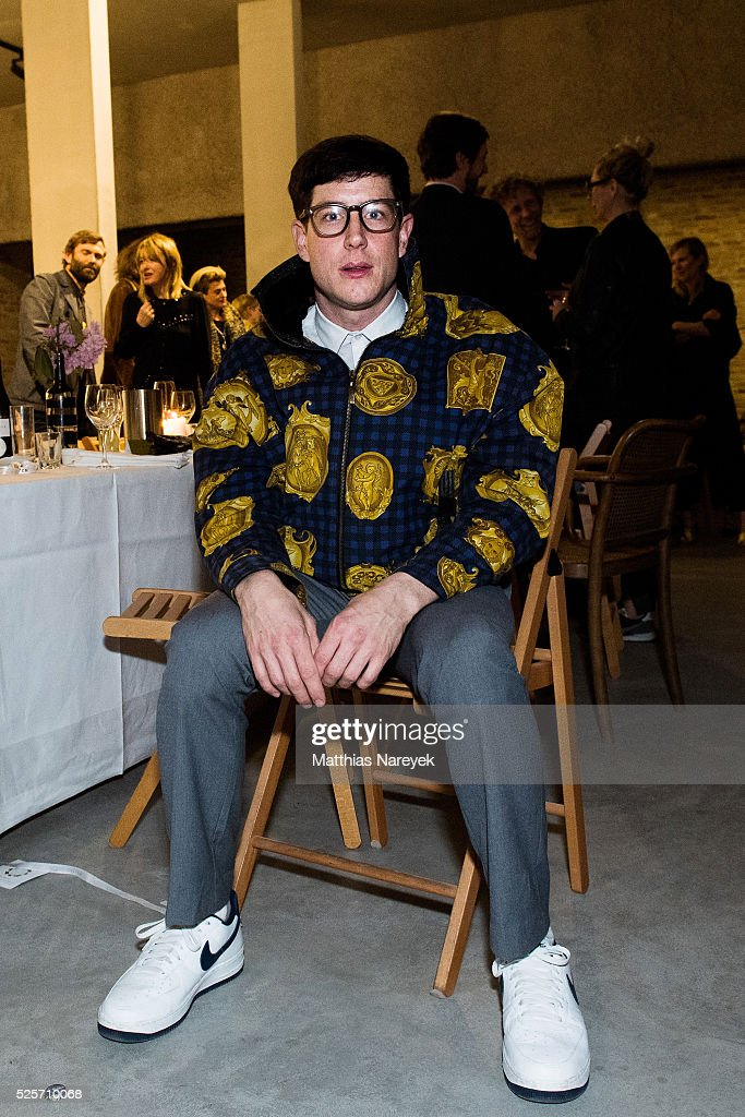 Jeremy Shaw attends an exclusive dinner hosted by AGL and Koenig Galerie to celebrate the 'Gallery Weekend Berlin' on April 28, 2016 in Berlin, Germany.