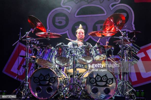 Jeremy Spencer of Five Finger Death Punch performs during Riff Fest at DTE Energy Music Theater on September 29 2017 in Clarkston Michigan