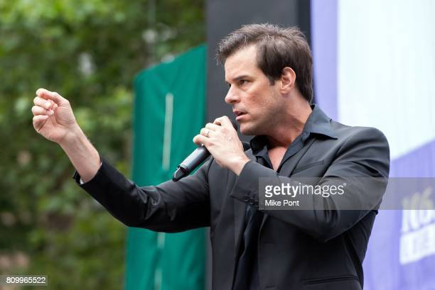 Jeremy Stolle from Broadway's 'Phantom of the Opera' performs during 1067 Lite FM's Broadway In Bryant Park 2017 at Bryant Park on July 6 2017 in New...