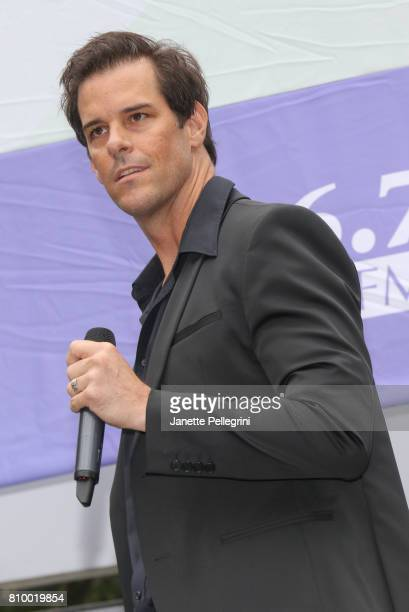 Jeremy Stolle from the cast of Phantom of the Opera performs at 1067 Lite FM's Broadway In Bryant Park on July 6 2017 in New York City