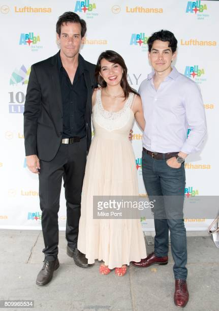 Jeremy Stolle Rachel EskenaziGold and Rodney Ingram from Broadway's 'Phantom of the Opera' attend 1067 Lite FM's Broadway In Bryant Park 2017 at...