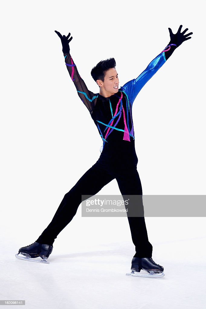 Jeremy Ten of Canada competes in the Men Free Skating competition during day three of the ISU Nebelhorn Trophy at Eissportzentrum Oberstdorf on September 28, 2013 in Oberstdorf, Germany.