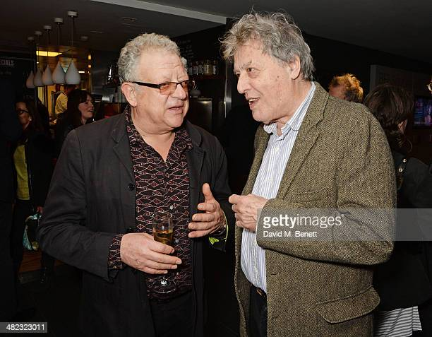 Jeremy Thomas and Sir Tom Stoppard attend the launch of the 3rd annual 'Made In Britain' season featuring the films of producer Jeremy Thomas at the...