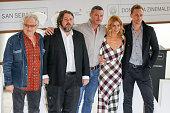 Jeremy Thomas Ben Wheatley Tom Hiddleston Sienna Miller and Luke Evans attend 'HighRise' photocall during 63rd San Sebastian Film Festival on...