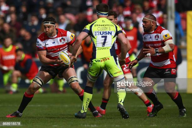 Jeremy Thrush of Gloucester Rugby in action during the Aviva Premiership match between Gloucester Rugby and Sale Sharks at Kingsholm Stadium on April...