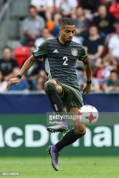 Jeremy Toljan during the UEFA European Under21 Championship Semi Final match between England and Germany at Tychy Stadium on June 27 2017 in Tychy...