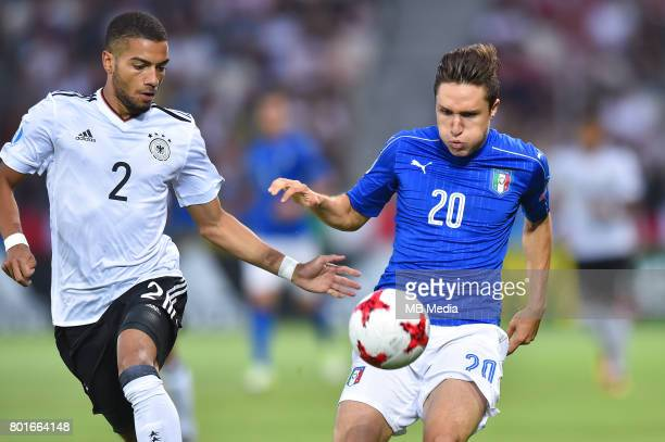 Jeremy Toljan Federico Chiesa during the UEFA European Under21 match between Italy and Germany on June 24 2017 in Krakow Poland