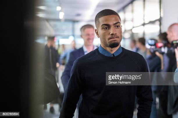 Jeremy Toljan looks on during the Germany U21 National Team arrival at Frankfurt International Airport on July 1 2017 in Frankfurt am Main Germany