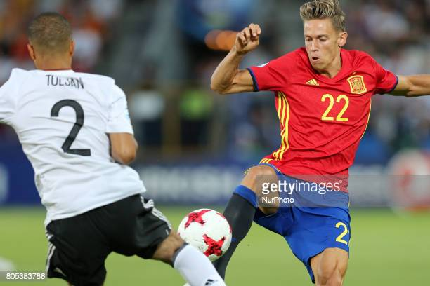 Jeremy Toljan Marcos Llorente during the UEFA U21 Final match between Germany and Spain at Krakow Stadium on June 30 2017 in Krakow Poland
